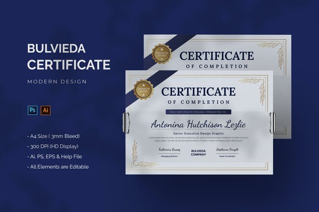 Bulvieda Company - Certificate Template
