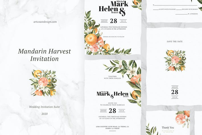 Thumbnail for Mandarin Harvest Invitation
