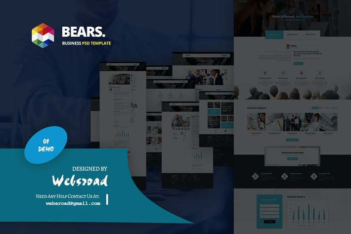 Thumbnail for Bear's - Business Services PSD Template