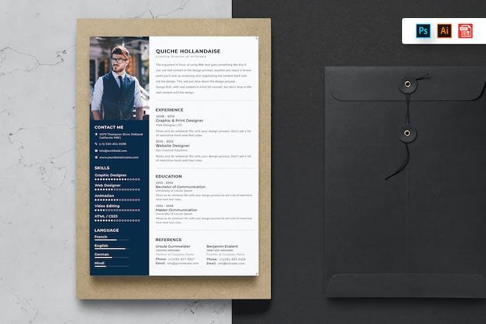 Thumbnail for Resume CV Template-60