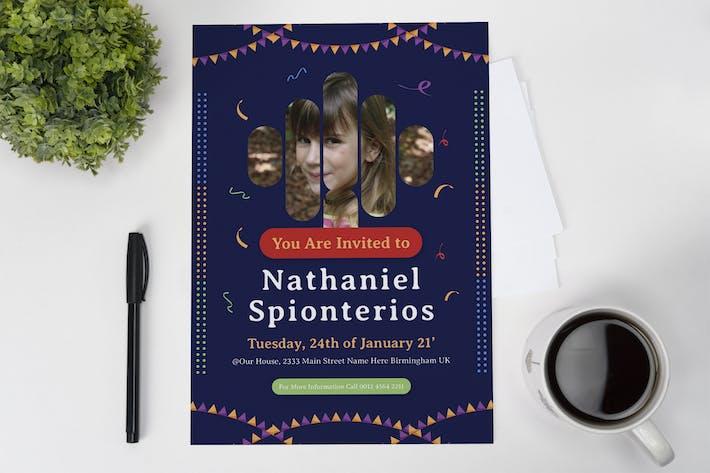 Thumbnail for Spionterios Birthday Invitation