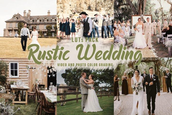 Деревенские свадебные LUT - Видео Цветовая сортировка Фильтры