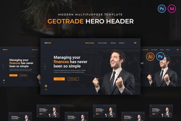 Geotrade Hero Header