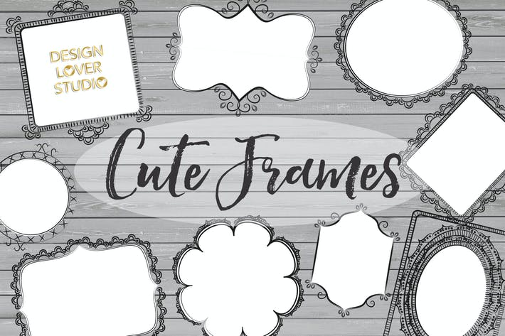 Thumbnail for Vector Rustic Cute Frames