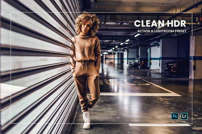 Очистить действие HDR и предустановку Lightroom