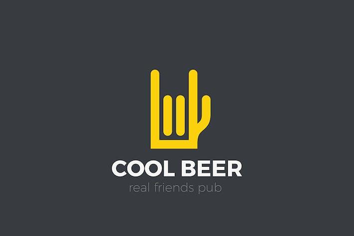 Thumbnail for Beer Mug Pub Logo as Hand Linear style