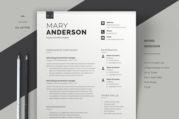 Cover Image For Resume Template