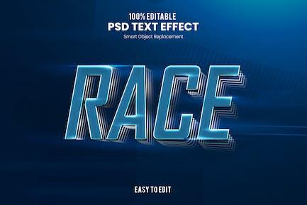 Гонка - Спортивный PSD Текстовый эффект
