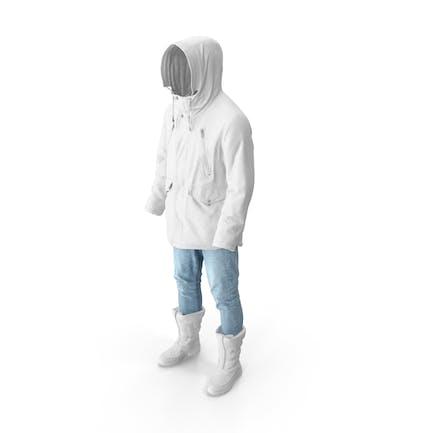 Men's Pants Boots Pullover Coat White