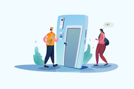 Fast Delivery - Vector Illustration