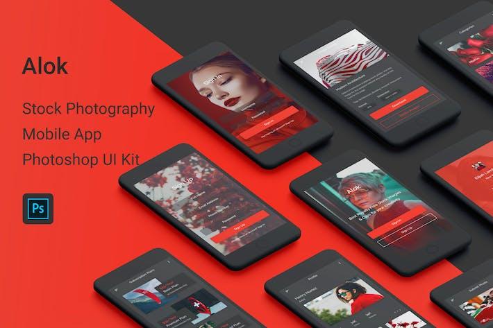 Thumbnail for Alok - Stock Photography Photoshop UI Kit