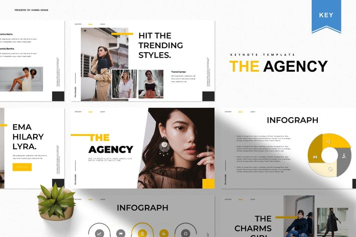 Thumbnail for The Agency | Keynote Template
