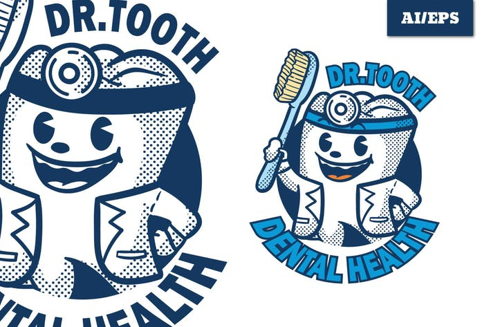 Thumbnail for Dr. Tooth - Mascot Logo