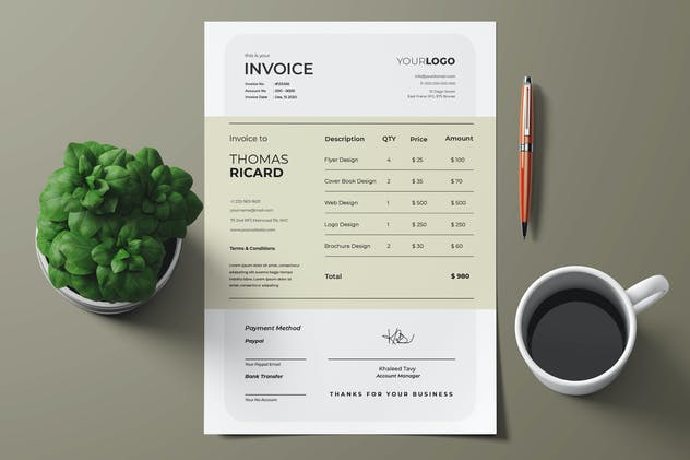 Creative Invoice - product preview 0