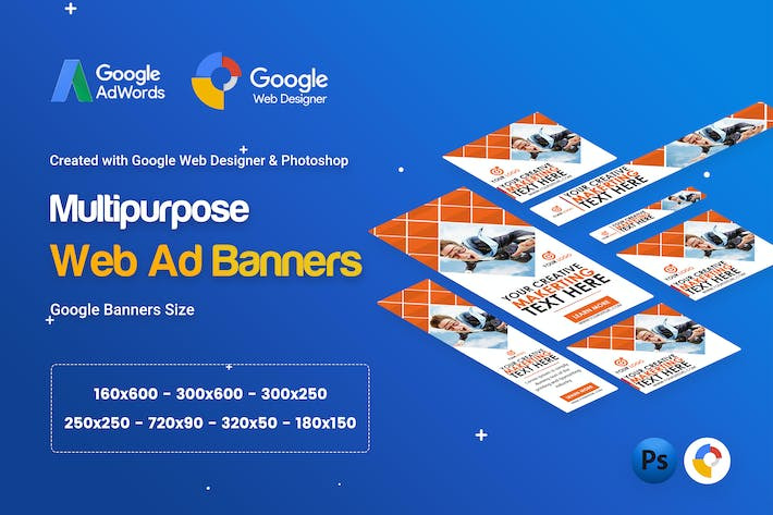 Cover Image For Multi Purpose, Business Banner Ad - GWD & PSD