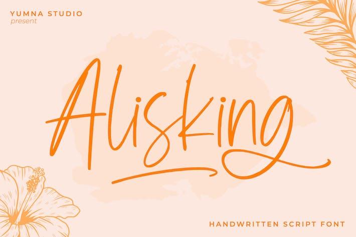Thumbnail for Alisking-Handwritten Font