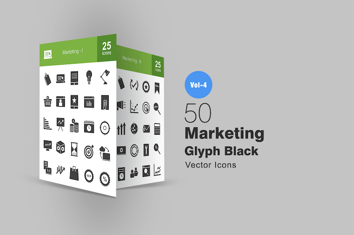 Thumbnail for 50 Marketing Glyph Icons