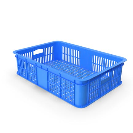 Blaue Kunststoffkiste