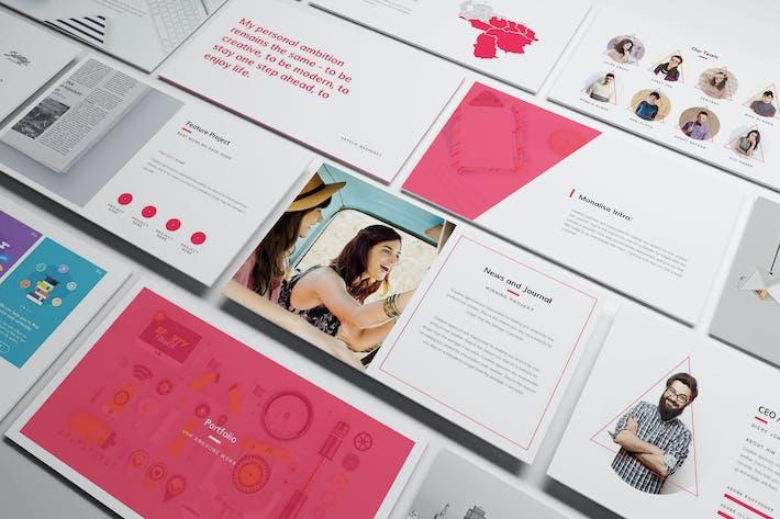 Thumbnail for Творческий Шаблон слайдов Google