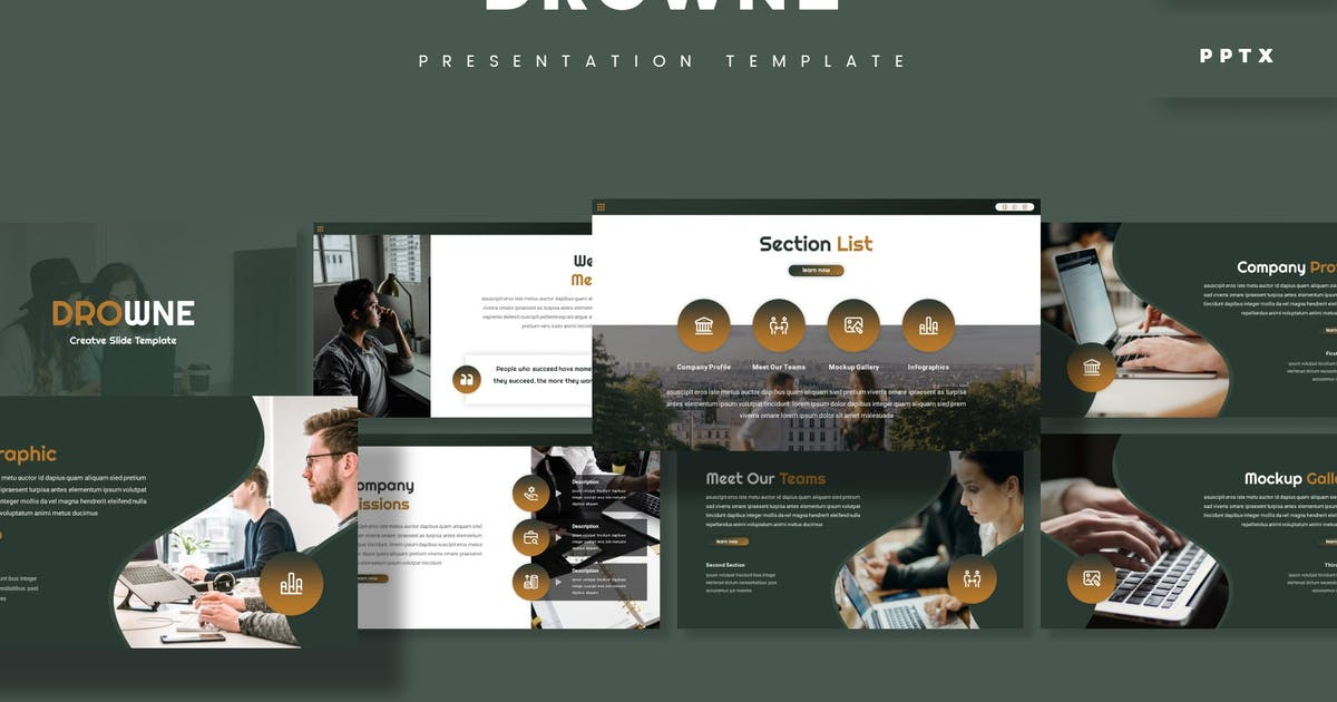 Download Drowne - Presentation Template by aqrstudio