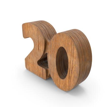 20 Wooden Number