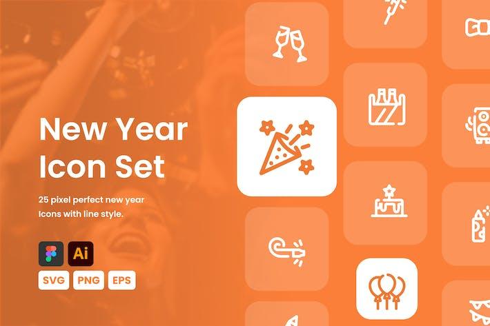 Thumbnail for Новогодний набор иконок