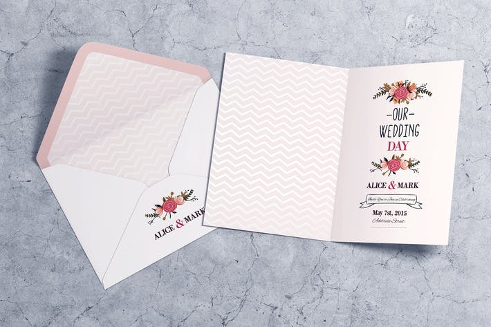 Cover Image For Invitation & Greeting Card MockUp vol.2