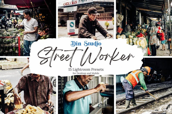 Thumbnail for Street Worker Lightroom Presets