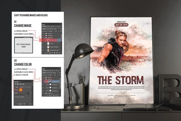 Cover Image For The Storm Movie Poster/Flyer