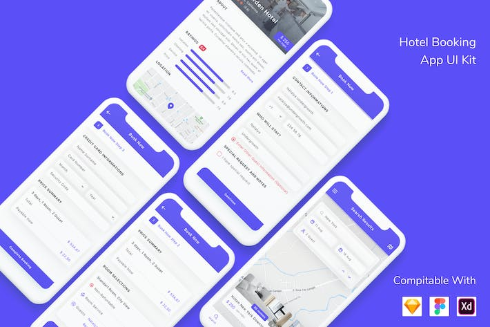 Thumbnail for Hotel Booking App UI Kit