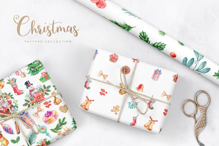 Thumbnail for Watercolor Christmas Patterns