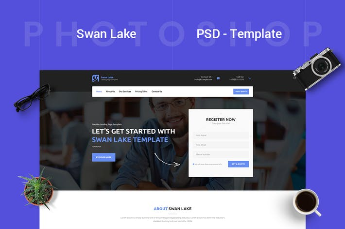 Thumbnail for Swan Lake - Marketing PSD Template