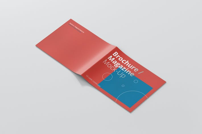 Thumbnail for US Letter Landscape Brochure / Magazine Mock-Up
