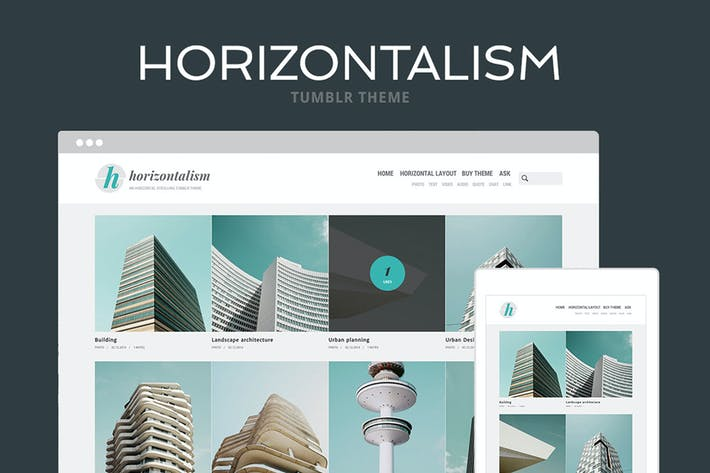 Thumbnail for Horizontalism Tumblr Theme