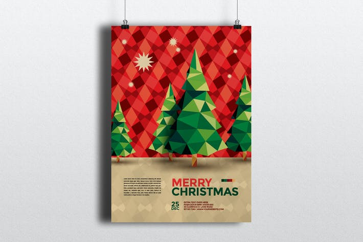 cool pattern christmas flyer by abradesign on envato elements