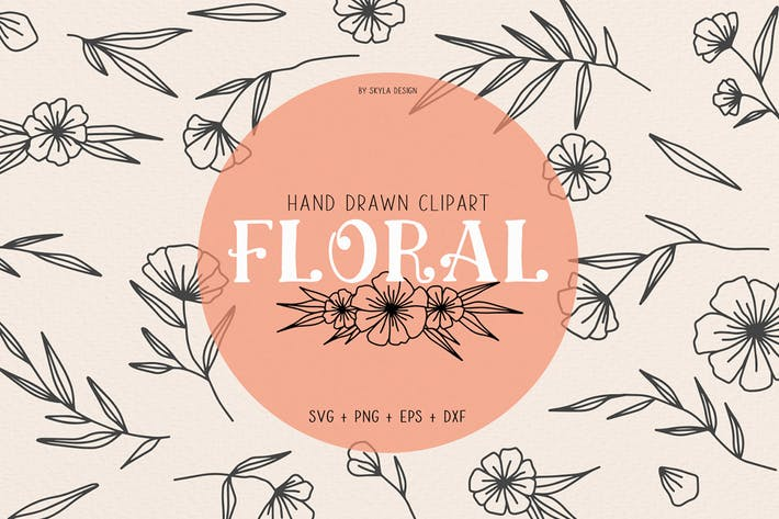 Thumbnail for Floral wedding clipart illustration