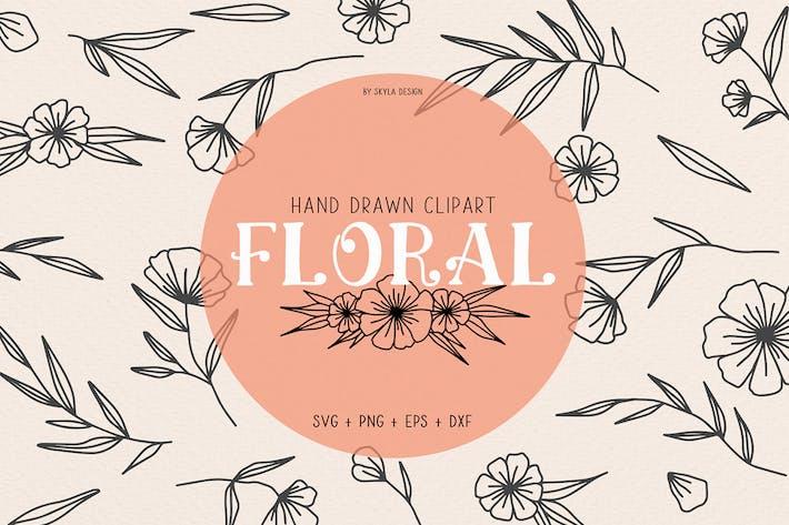 Floral wedding clipart illustration