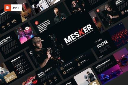 MESKER - Режиссеры Powerpoint Шаблон