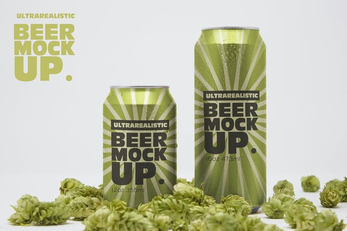 Cover Image For Front Beer Can Duo Mockup