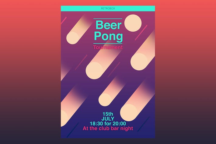 Cover Image For Beer Pong Flyer Poster