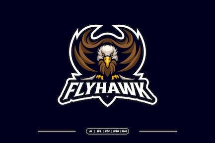 Hawk Mascot Logo