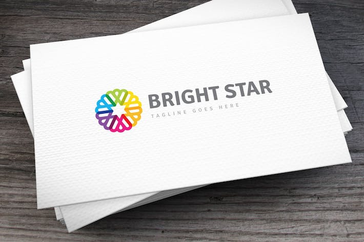 Thumbnail for Bright Star Logo Template