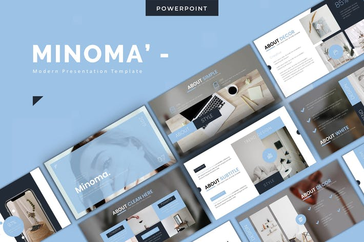 Thumbnail for Minoma - Powerpoint Template