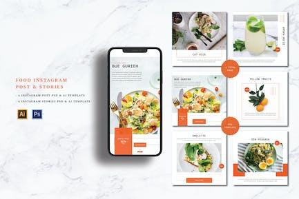 Food Instagram Post & Historias