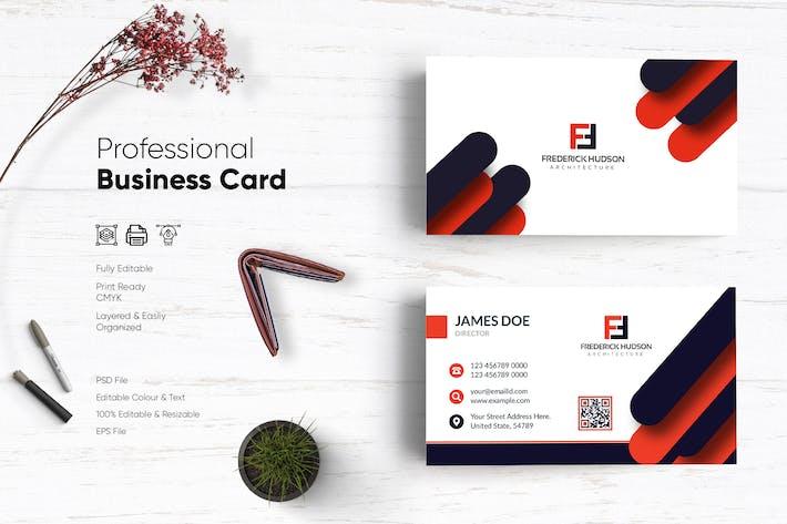 Thumbnail for Шаблон креативной визитной карточки
