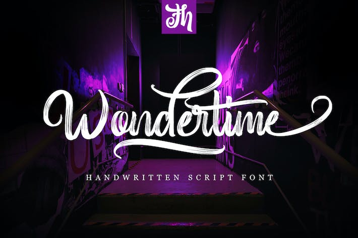 Thumbnail for Wondertime - Handwritting Script Font