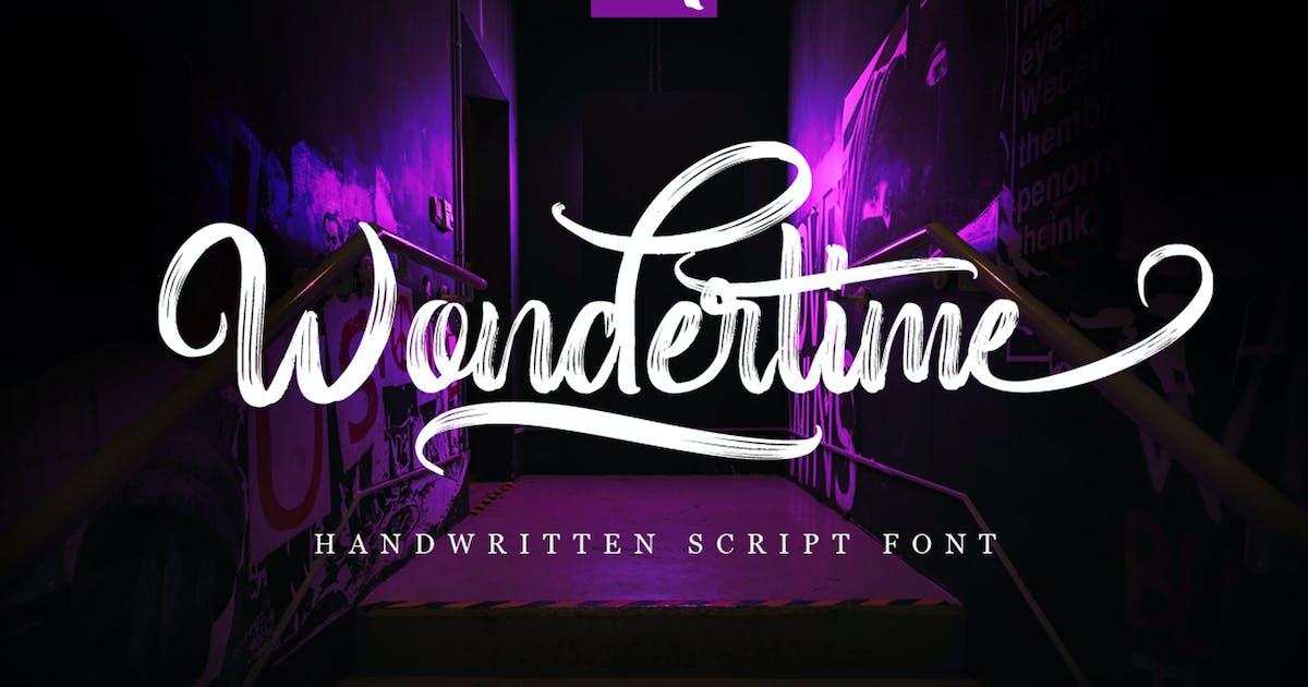 Download Wondertime - Handwritting Script Font by Voltury