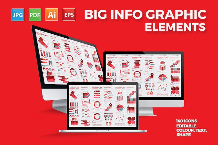 Thumbnail for Infographies rouge