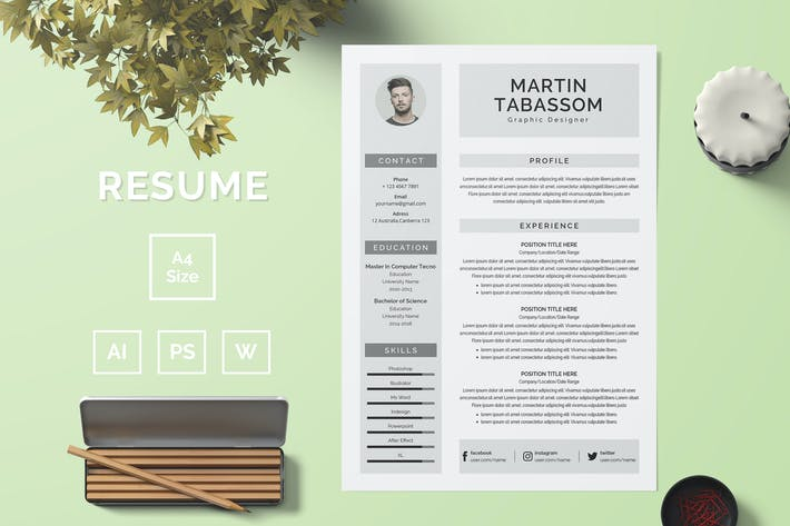 Thumbnail for Resume Template 50