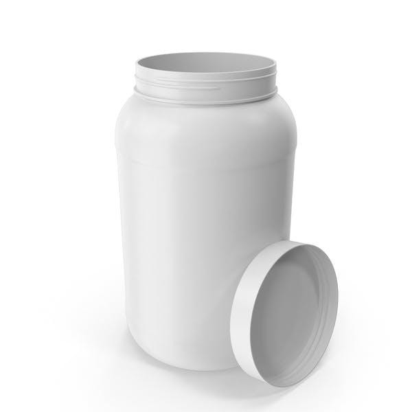 Пластиковая бутылка Широкий рот 1 галлон Белый Open